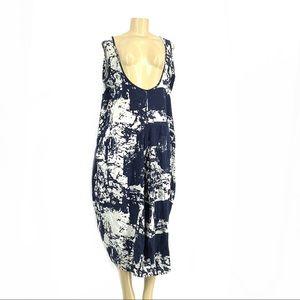 O-nelue Women Cotton linen maxi plus size dress